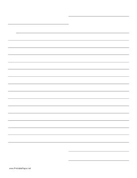 This friendly letter template helps guide the layout of a personal or business letter. Helps teach young students communication skills. Free to download and print