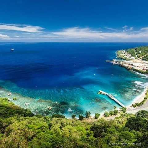 The view of the beach on Christmas Island. This place is rich in rainforests, waterfalls and unhindered beaches. It`s  a perfect destination for scuba diving and bird watching or just relaxing by the Indian Ocean.