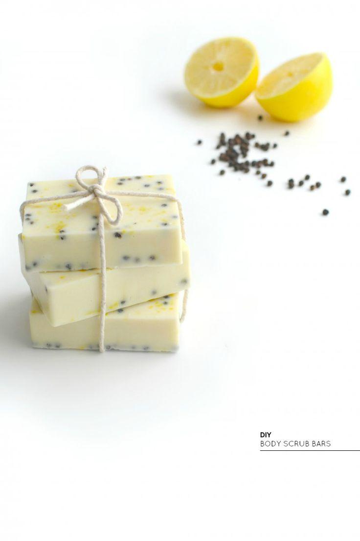 DIY - Lemon peppercorn body scrub bars by burkatron.com
