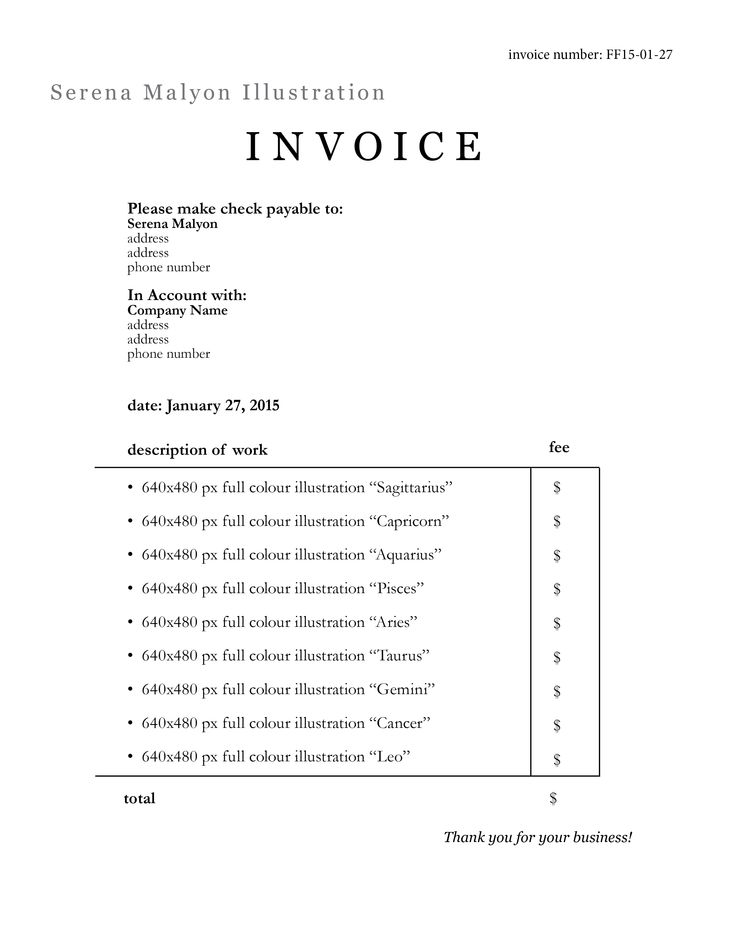 I Just Graduated Art School, What Do I Do?! | Invoice Sample And