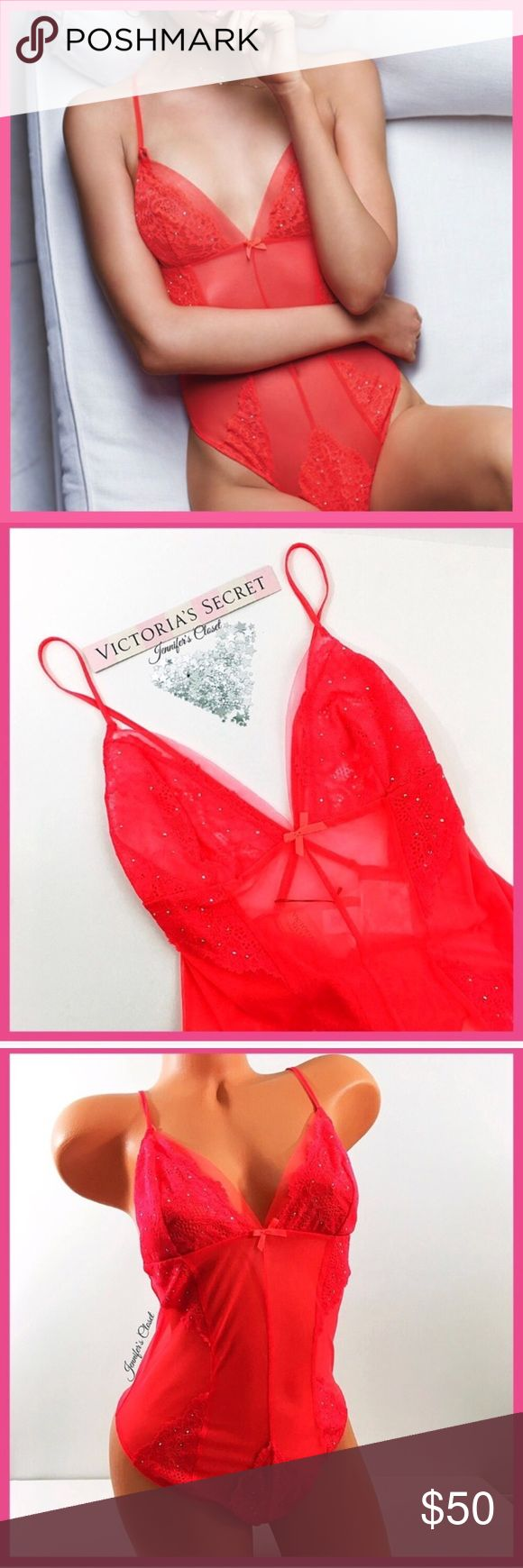 •Victoria's Secret• Red Rhinestone teddy V I C T O R I A 'S ✦ S E C R E T    ❈ Condition: New with tags  ❈ Reasonable Offers Always Welcome!  ❈ Fast shipping Monday⇢Friday  Same/Next day after your purchase  ❈ Questions? Please comment below,  I will be more than happy to assist you ☻  ❈ Bundles are always encouraged to save on shipping!   ❈Thank you for stopping by! Looking forward to having you as a customer, or having you back as a return customer -xo ღ Jennifer Victoria's Secret…
