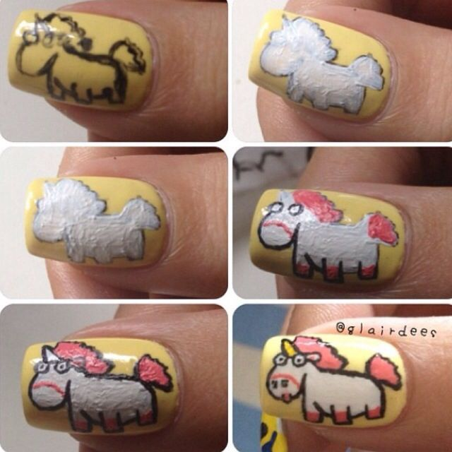despicable me unicorn nails - photo #5