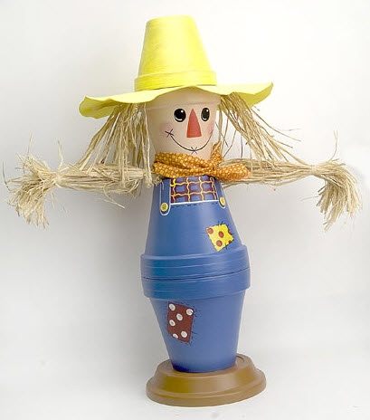 DecoArt® Scarecrow Boy #claypot #craft