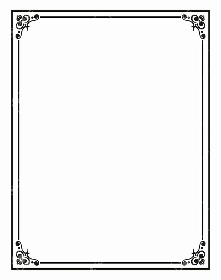 Blank Word Document Free Elegant Border Template for Word