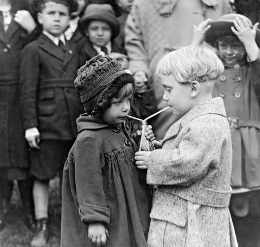 1905 - Photo by Alfred Stieglitz - @~ Mlle - I remember drinking from a straw in a bottle of pop as a real treat (simple pleasures....)