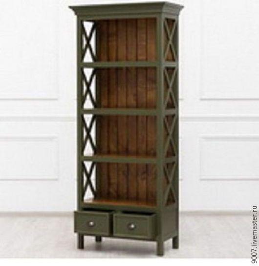 Мебель ручной работы. Ярмарка Мастеров - ручная работа. Купить Этажерка для книг,в стиле кантри.. Handmade. Зеленый, массив дерева