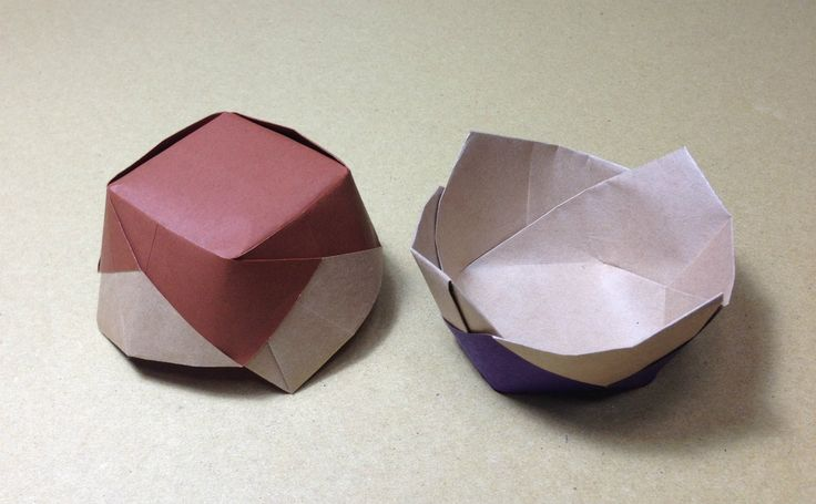 How to Make a Paper Ceramics / Origami Flower Vessel / Candy Dish