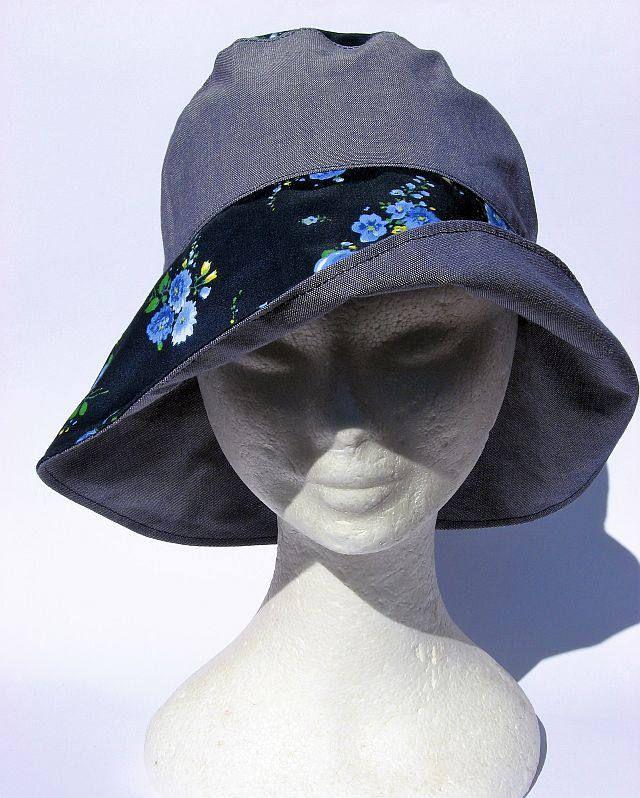 cappello donna, elegante, feminile, falda larga, primaverile estivo,fatto a mano, blu, womens hat blu, spring summer, chapeau femme bleu di Janecolori su Etsy