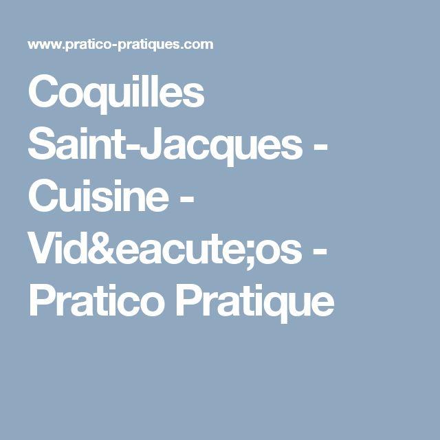 Coquilles Saint-Jacques - Cuisine - Vidéos - Pratico Pratique