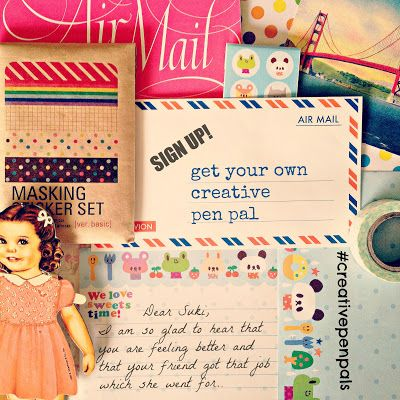 sign-up for a creative pen pal and get back to the fine art of letter writing. #penpal #creativepenpals