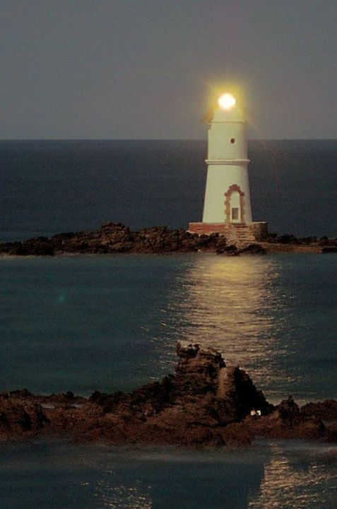 "Lighthouse ""Mangiabarche"" located on the outskirts of Calasetta (Sant'Antioco Island). ""Faro di notte"" by gugmar_74 (40)"