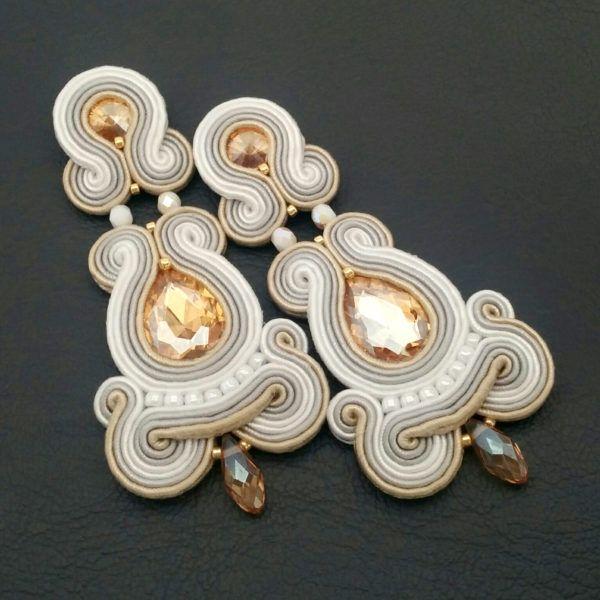 Soutache earrings - Soutache jewelry - Bridal earrings - Statement earrings   SABO Design
