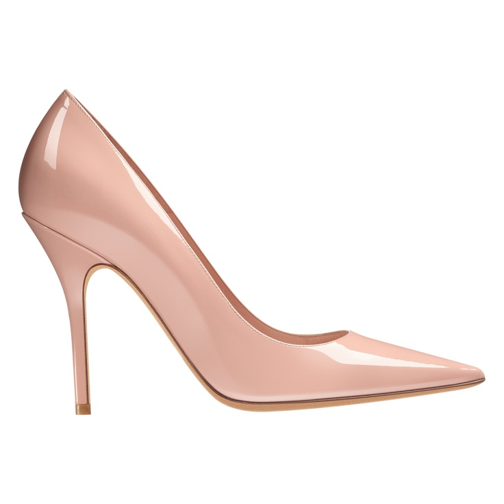 Dior Autumn- Winter 2012 Shoes collection: Pale pink patent leather, 10 cm pump. Discover more on www.dior.com