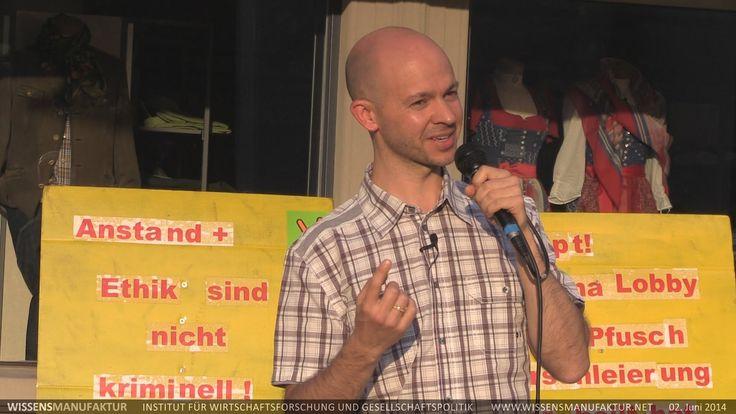 Mahnwache für Frieden, Dornbirn, Rico Albrecht 02.06.2014