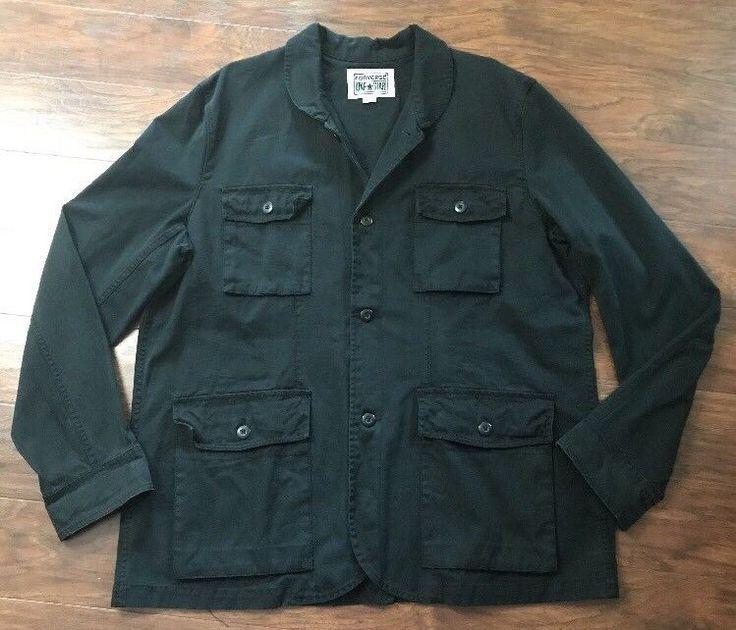 Converse One Star Jacket Mens XL Black Heavy Cotton ...