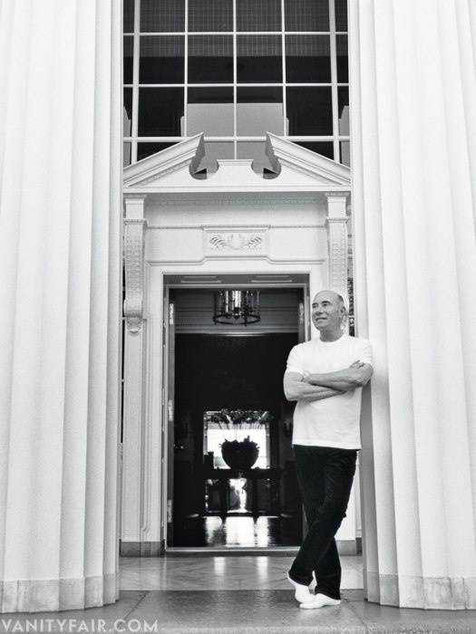 David Geffen - Producer/ Impresario Photographed at his home, the former Jack Warner estate, in Beverly Hills by Bruce Webber.