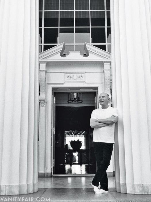 David Geffen - Producer/ Impresario Photographed at his home, the former Jack Warner estate, in Beverly Hills by Bruce Webber.