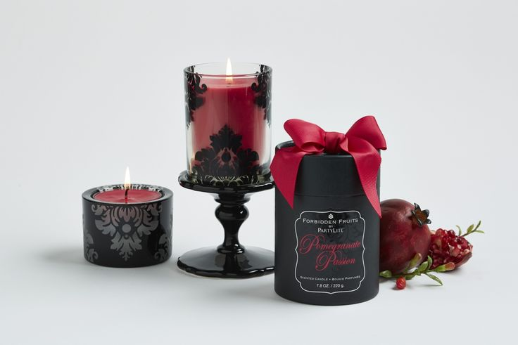 Pomegranate Passion from PartyLite's Forbidden Fruits Collection!