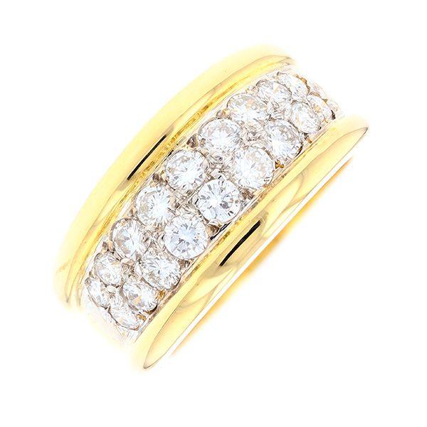 4c8b4c3d0 Ravissante bague à godrons d'occasion en or jaune 750 millièmes (18 ...