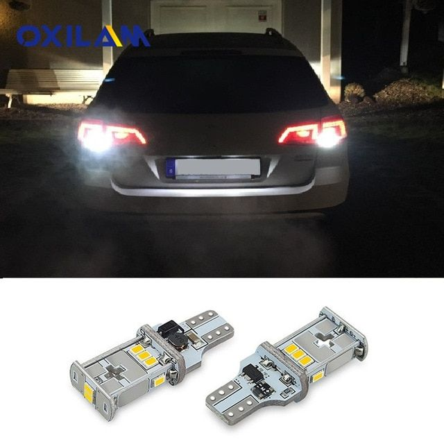 Oxilam 2x Canbus T15 W16w Led Bulb Car Back Up Reverse Lights For