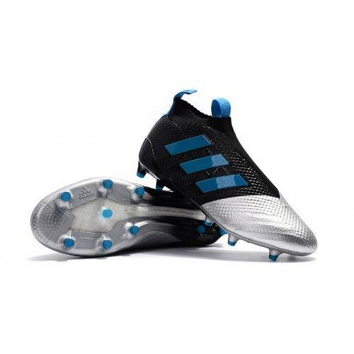 Adidas Fotballsko ACE 17+ PureControl FG Svart Sølv Blå