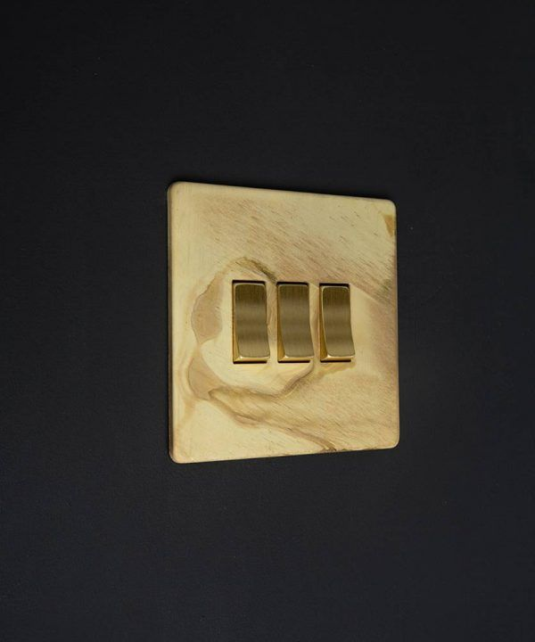 Smoked Gold Switches, Sockets, Dimmers & Toggles | Homeideas