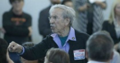 "Amidst the ugly frenzy of ICE threatening sanctuary cities, stalking immigrants at courts, and now detaining them mid-green-card-application, the first public appearance of the ICE director - at an open forum in immigrant-rich Sacramento - was met with massive angry crowds. One impassioned speaker brought them to rapt silence: An 87-year-old Holocaust survivor summoned another dark chapter ""fueled by hate and discrimination"" when ""we picked on people,"" and others failed to..."
