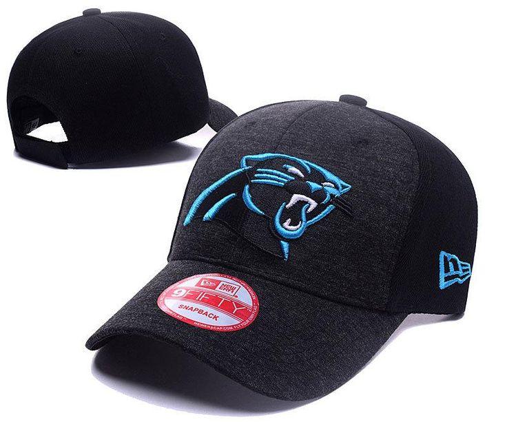 Men's / Women's Carolina Panthers New Era 2016 NFL Classic Team Adjustable Curved Hat - Heather Grey / Black