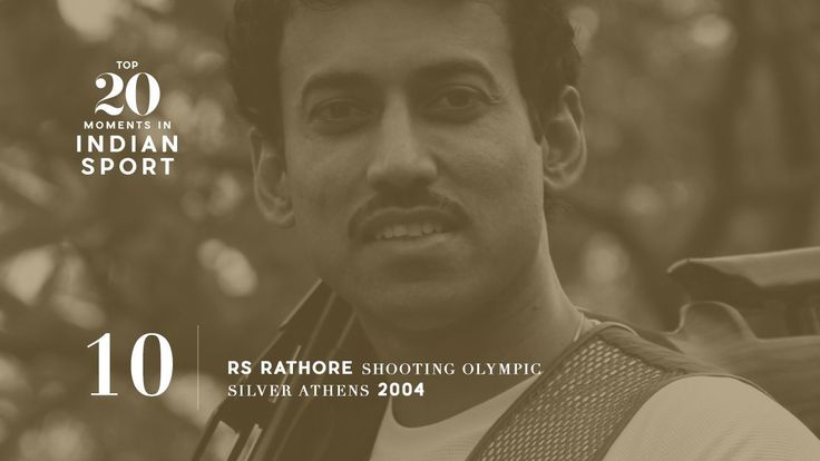 10: Rajyavardhan Rathore wins silver in Athens - Rathore entered the Men's Double Trap event as the fifth of six finalists, but he delivered under pressure to win India's first individual silver at the Olympics. Photo: Qamar Sibtain/The India Today Group/Getty Images    www.indipin.com #indipin