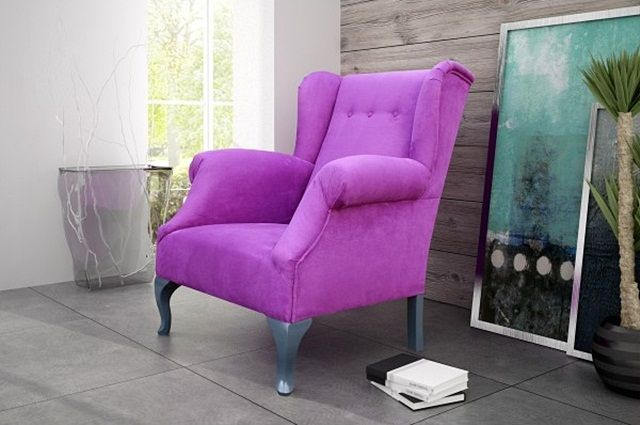 inspiracje w moim mieszkaniu: Stylowy, tapicerowany fotel dekoracją wnętrza