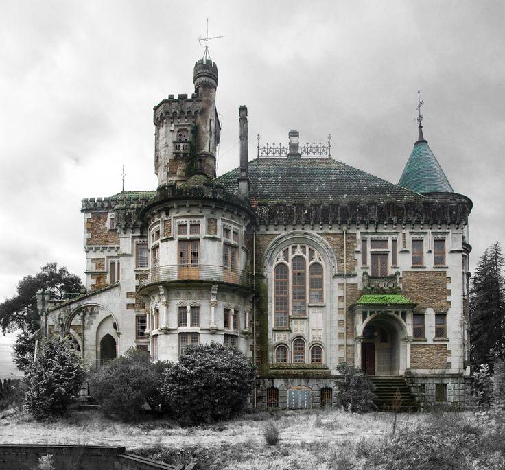 The Castle of Dona Chica, Palmeira in Braga, Portugal   Photos: Ruin'arte  http://www.steampunktendencies.com/post/141136678679/abandoned-the-castle-of-dona-chica-palmeira#sthash.pBX6r8de.dpuf