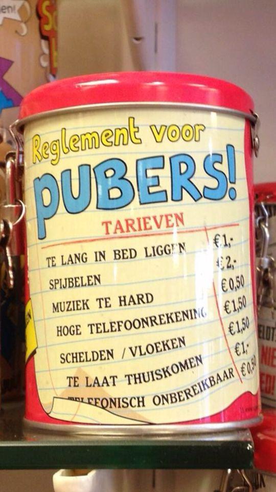 Tiener en pubers knutsels