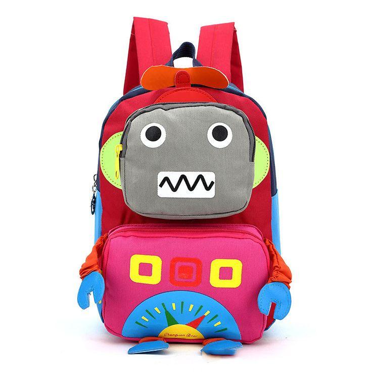 $9.35 (Buy here: https://alitems.com/g/1e8d114494ebda23ff8b16525dc3e8/?i=5&ulp=https%3A%2F%2Fwww.aliexpress.com%2Fitem%2F2016-Hot-Cartoon-Robot-children-backpacks-kids-kindergarten-backpack-kid-school-bags-Satchel-for-boys-and%2F32730141313.html ) 2017 3D Cartoon Robot children backpacks kids kindergarten backpack child school bags Satchel for baby boys and girls mochila for just $9.35