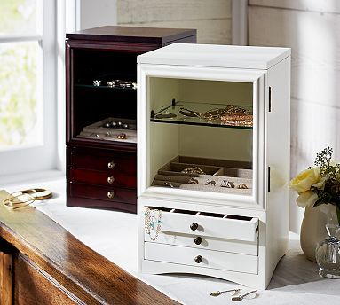 Espresso Andover Tall Jewelry Box #potterybarn