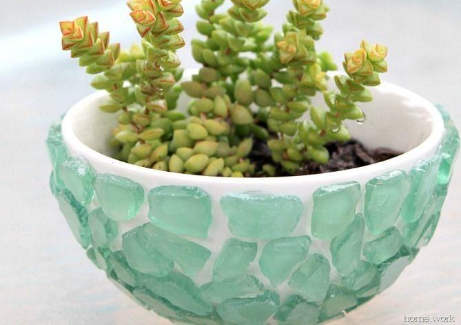 Sea Glass Succulent Bowl - homework (7)
