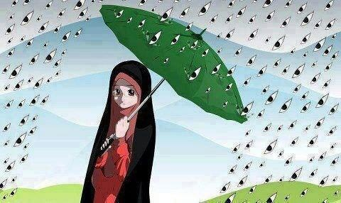 """""""My Hijaab is like an umbrella. It  protects me from the eyes of  thousands of men...!!♥:)"""" (via #facebook)"""
