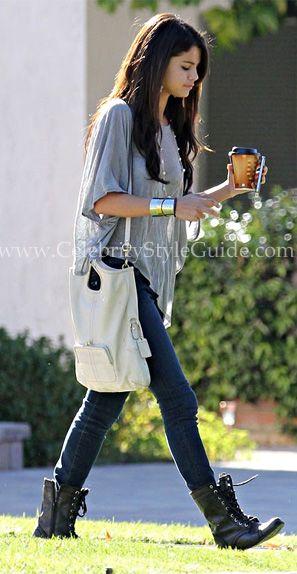 Selena Gomez Style and Fashion - Blue Life Phoenix Cape Tee - Celebrity Style Guide