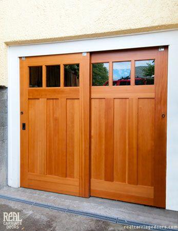 25 best ideas about sliding garage doors on pinterest for Exterior multi track sliding doors