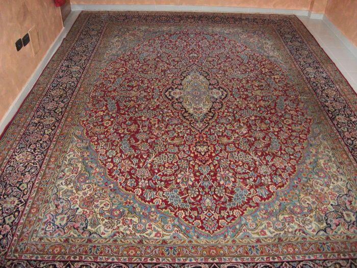 Catawiki, pagina di aste on line  Kirman Imperiale  Fine  Iran MT13,16 430X306  Annodato a Mano 300.000 Nodi per Mt .Quadrati