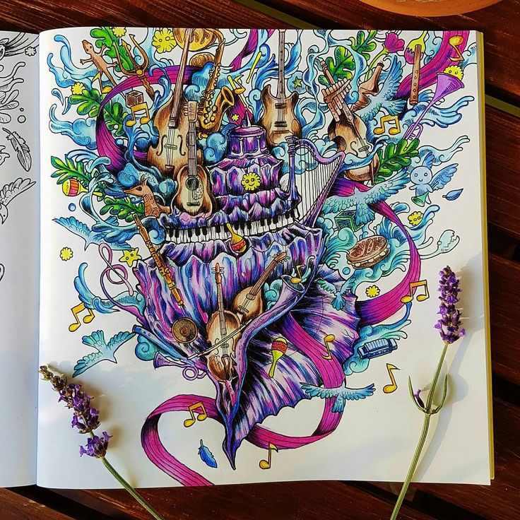 1622 best images about finished coloring pages on for Imagimorphia coloring pages