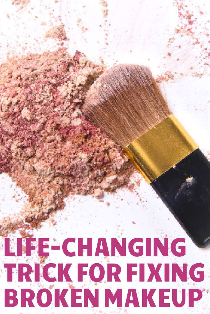 How to fix broken powder makeup with alcohol in four simple steps - The Life Changing Trick For Fixing Broken Makeup