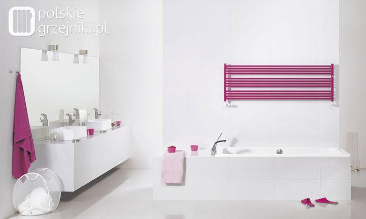 Grzejnik łazienkowy Clevo - nowoczesne formy grzejników ozdobnych do łazienki. #grzejnikiozdobne #grzejnikilazienkowe #grzejnikidekoracyjne