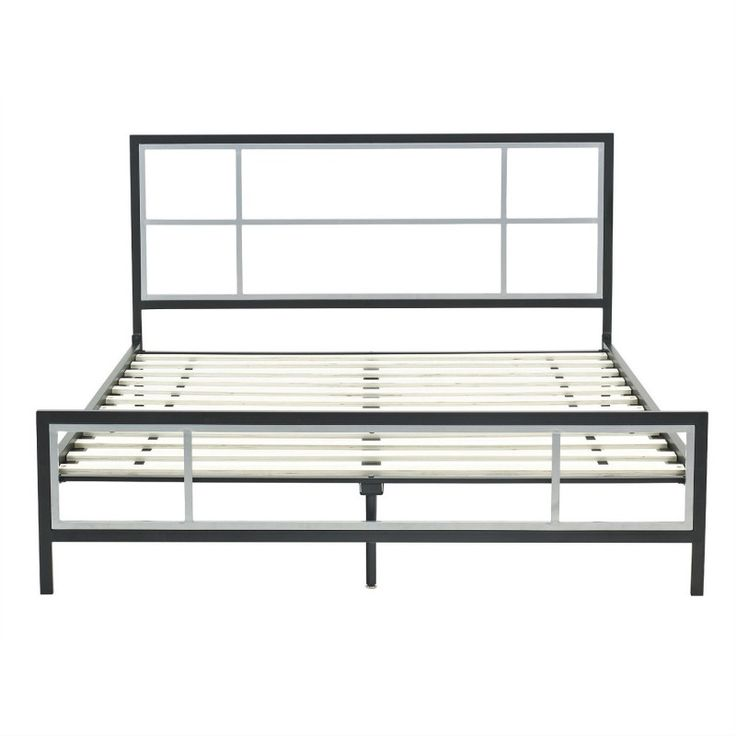 AXON Queen size Modern Platform Metal Bed Frame with Headboard Footboard  and Wooden Slats. Best 25  Metal bed frame queen ideas on Pinterest   Ikea bed