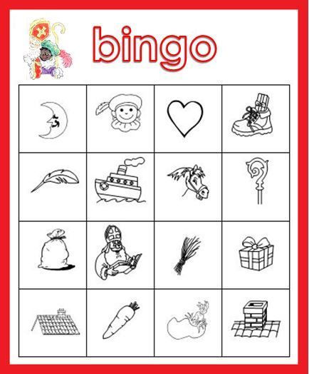 Sinterklaas Bingo! Echt een succes bij de kleuters!