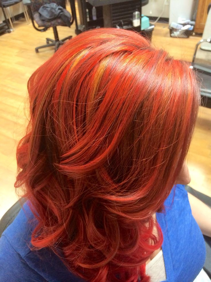 Red Orange Joico Color Intensity Hair And Makeup