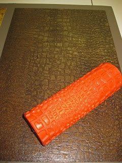 Textured Paint Rollers | Textured paint rollers - this one is alligator. Also: bark, hammered ...