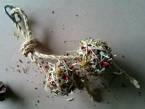 All Natural Handmade Blend of Organic Herbs Treats for your Bunny (2pck), For Pampered Rodants