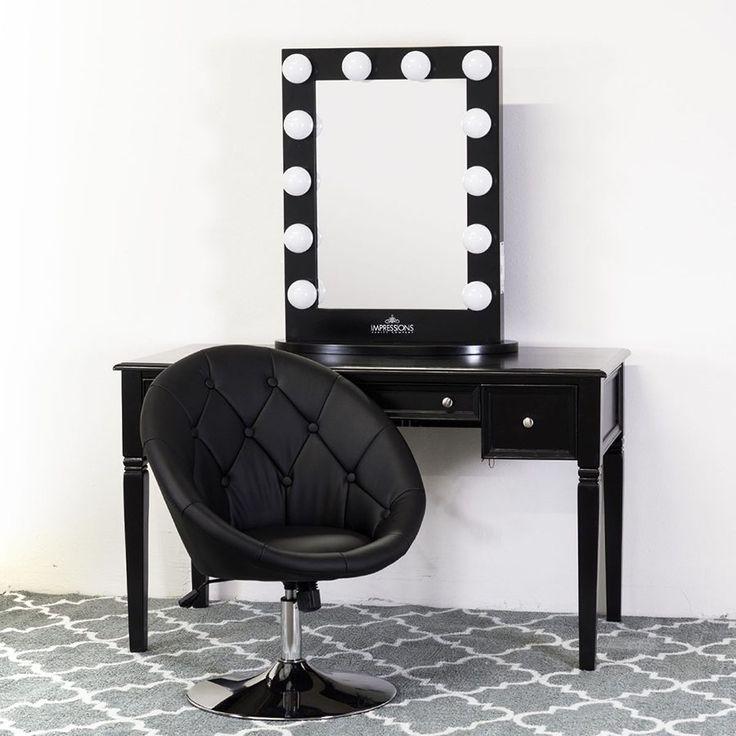best 25 black vanity table ideas on pinterest makeup vanity tables makeup desk with mirror. Black Bedroom Furniture Sets. Home Design Ideas