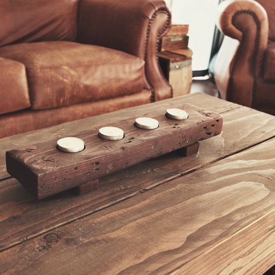 Hey, I found this really awesome Etsy listing at https://www.etsy.com/listing/178296341/rustic-wooden-tea-light-holder: