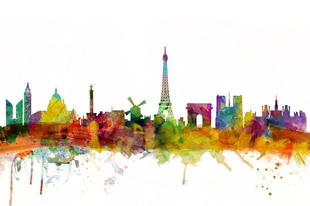Paris Skyline - Canvas Print & Canvas Art - Photowall